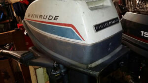 6hp Evinrude 2 str LONG shaft outboard motor w/ tank and line