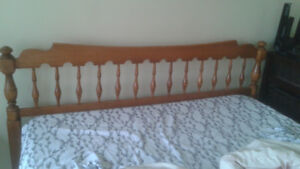 Double sized Headboard,  footboard and rails for sale!!