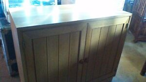 New solid pine bookshelf and two door tv or dvd storage cabinet
