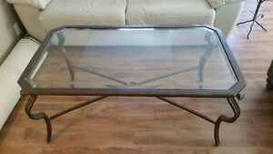 Wrought Iron Coffee Table with Glass Top (Pier 1 Imports)