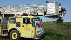 Fire truck, pumper, 105 ft boom lift, $7,500 finder's fee pd ! Prince George British Columbia image 2