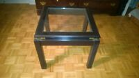 Glass top coffee table, medium size, attractive,
