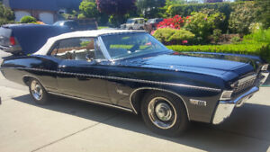 1968 Chevrolet Impala SS 396 4 speed convertible