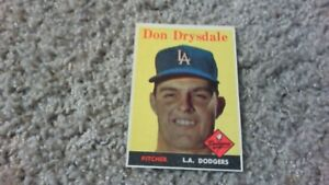 DON DRYSDALE 1958 L.A. DODGERS # 25 TRADING CARD