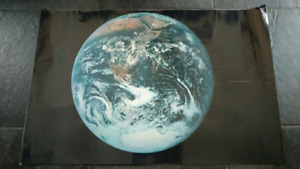 Earth and Apollo Missions laminated, double-sided poster