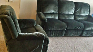 Reclining Sofa and Rocking Chair