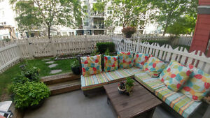 1 Bdrm+den, Ground access with private yard July 15th or Aug 1st