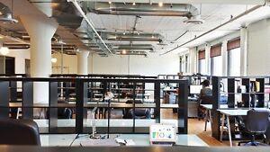Coworking / Bureau en aire ouverte meublé 199$/mois tout inclus