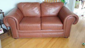 Leather Loveseat for sale.  Perfect for students!