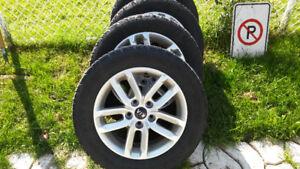Mag/jante +pneu d'hiver de kia 215/60R16