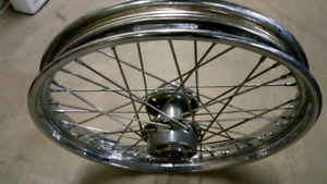 "OEM Harley wide glide front 21"" wheel"