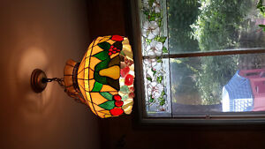 vintage stained glass fruit light chandelier