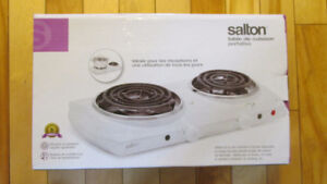 Salton 2 burner cooktop