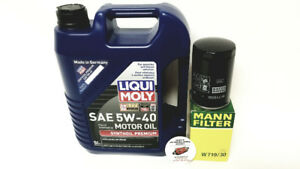 ALL SAAB 9-5  9-3  OIL CHANGE KITS - LIQUI MOLY AND FILTER