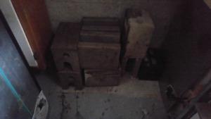 8 blocs de ciment pour abri d'auto