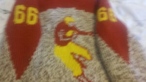 1950's Cowichan Knit Sweater -  Football Player #66 Peterborough Peterborough Area image 5
