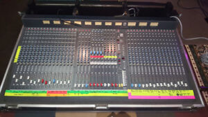 Soundcraft K2 32 Channel Mixer with Road Case