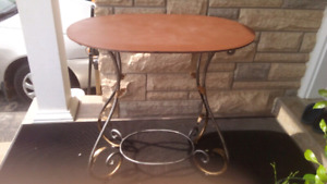 Decorative Wrought Iron Display Table