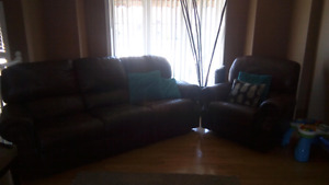 Couches and patio table and chairs for sale