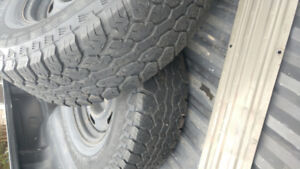 AT2 total terrain offroad tires. 29 inch tires on 15 inch rims