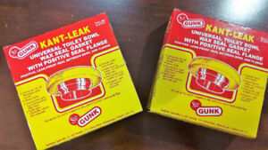 Universal Toilet Bowl Wax Seal Gasket with Positive Seal Flange