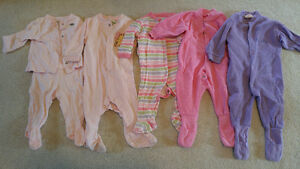 3-6 months girl's sleepers