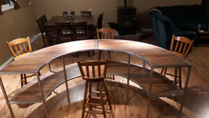 Funky Table and set of 4 Bar stools