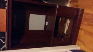 Tv stand/storage cupboards/glass doors