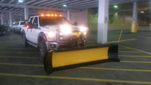 Snow plow and Salter