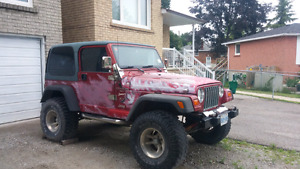 98 Jeep TJ sport for sale $4999