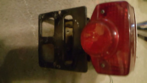 1980 honda cb400 rear brake light and license holder