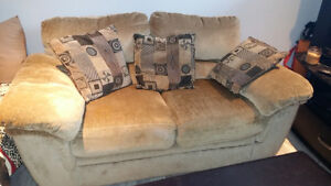 Plush Couch and Chair