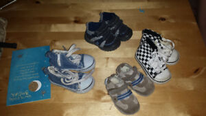 Infant shoes and backseat mirror