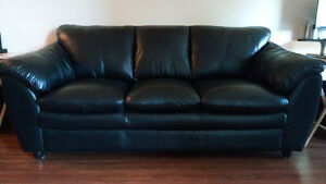 New Lazzaro leather sofa and loveseat