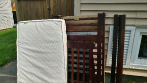 Well loved crib with mattress