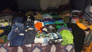 Boys Clothes size 8 and 10 two garbage bags