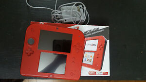 2DS (Red) hacked with 32gb