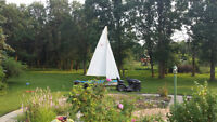 12' sailboat Kolibri made in the old West Germany