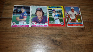 Four (4) Topps Chewing Gum baseball cards 1975-79