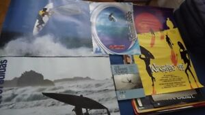 5 SURFING/SURFERS COLLECTORS ITEMS PACKAGE DEAL:4 POSTERS+1 MAG