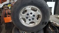 """SET OF 16"""" WHEELS AND TIRES FOR CHEV OR GMC 1/2 TONS"""