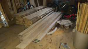 Live edge and square edge lumber for sale