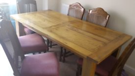 Oak Wood Dining Table Furniture