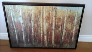 Canvas picture of birch trees