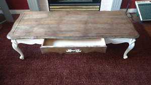 Cafe coffee table solid maple over 50 yrs old refinished