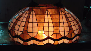 Stained glass hanging lights