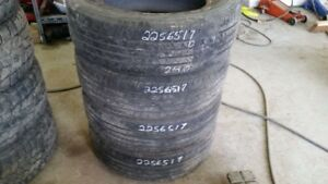 Set of 4 Dunlop Grandtrek 225/65R17 tires (50% tread life)