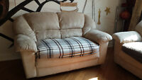 ***Suede 3 Seater Couch & Love seat FOR SALE***