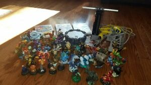 Wii + Skylanders Spyros Adventure with figures + 2more games