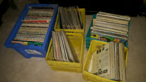 5 bins of records forsale